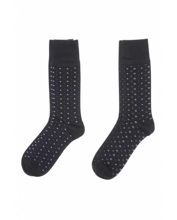 2 Pares Calcetines Rombos y Topos Bamboo - 1918original.com